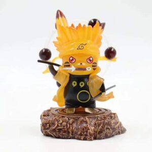 Uzumaki Naruto Nine-Tails Chakra Mode Pikachu Action Figure
