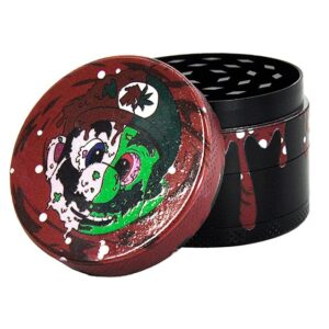 Weed Man Super Mario Red Drip Art Stylish Kush Herb Grinder