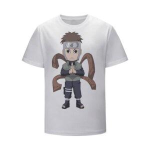Yamato Caricature Wood Style User White Kids Shirt