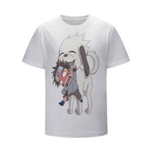 Young Kiba Inuzuka and Akamaru Unique Bond Kids T-Shirt