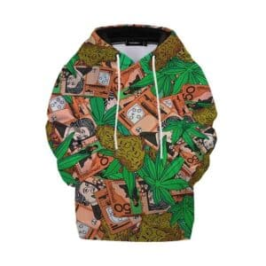 420 Marijuana Buds & Money Overall Print Dope Kids Hoodie