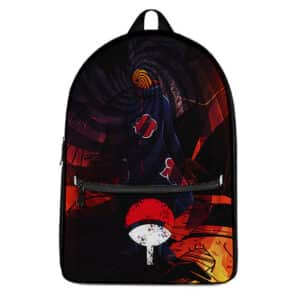 Akatsuki Tobi Obito Uchiha Artwork Unique Naruto Backpack