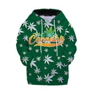 Awesome Cannabis Logo Weed Leaf Pattern Children Hoodie