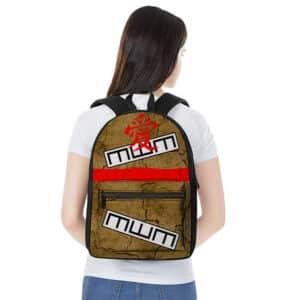 Awesome Gaara Forehead Kanji & Sand Gourd Inspired Backpack