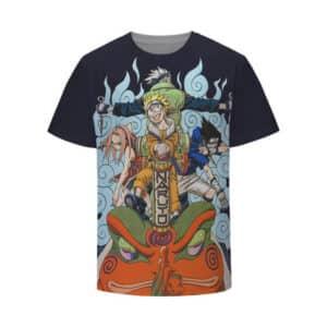 Awesome Team 7 Naruto Sasuke Sakura and Kakashi Kids Shirt