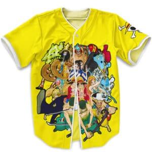 One Piece Straw Hat Pirate Crew Yellow Baseball Jersey