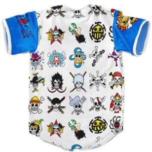 One Piece Pirate Logos Pattern Awesome Baseball Shirt