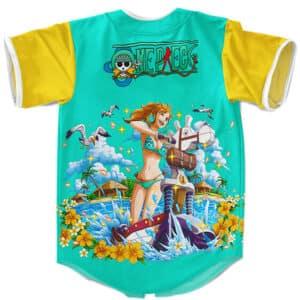 One Piece Nami Art Design Fashionable Baseball Jersey