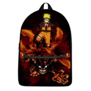 Badass Naruto & Nine-Tail Demon Fox Kurama Knapsack Bag