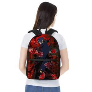 Badass Uchiha Itachi Crow Genjutsu Art Backpack Bag