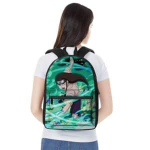 Byakugan User Neji Hyuga Battle Pose Art Knapsack Bag