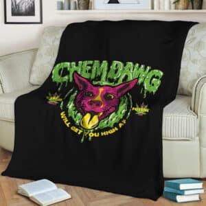 Chemdawg Strain Sativa Hybrid Indica Marijuana Throw Blanket