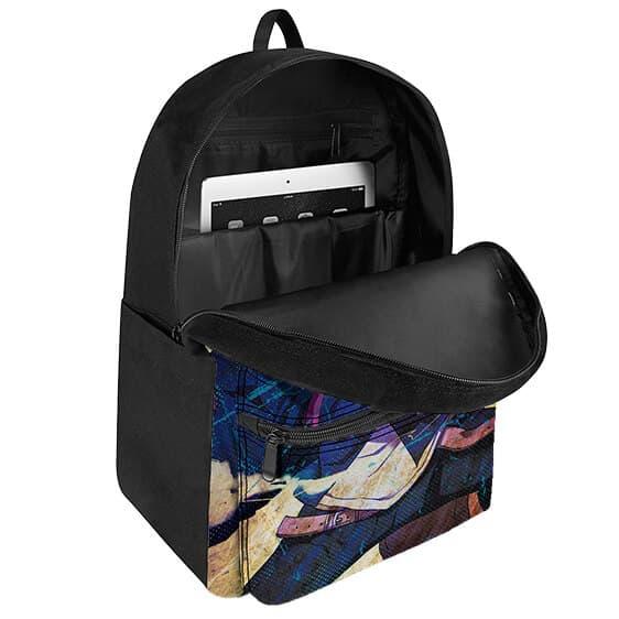 Cool Boruto Uzumaki Battle Pose Vintage Look Art Backpack