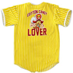 Cotton Candy Lover Tony Tony Chopper Yellow Baseball Shirt