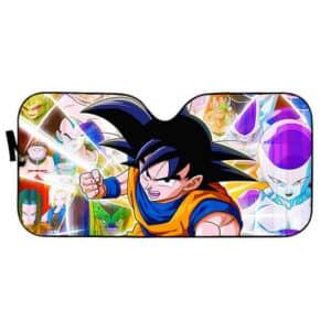 Dragon Ball Z Son Goku And The Villains Car Sun Shield