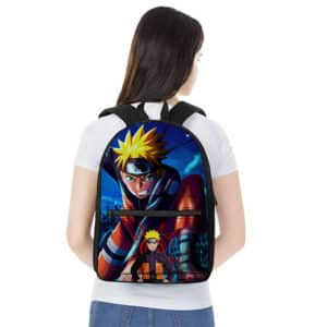 Fierce Naruto Uzumaki Battle Stance Design Backpack Bag