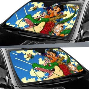 Flying Shenron Kid Goku Bulma Krillin & Piccolo Car Sun Shield