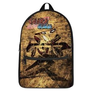 Fourth Kazekage Gaara Kanji Logo Dope Naruto Backpack Bag
