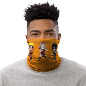 Funny Naruto Sakura And Sasuke Caricature Team 7 Tube Mask