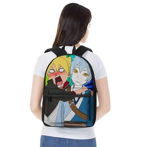 Goofy Boruto Uzumaki & Mitsuki Art Funny Naruto Backpack