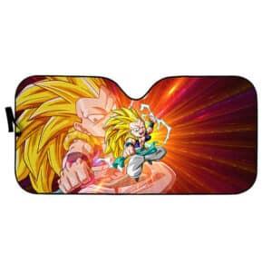Gotenks Super Saiyan 3 Fight Stance Car Sun Shield