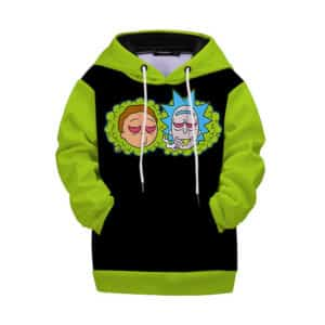 High For Life Rick & Morty Smoking Weed Joint Kids Hoodie