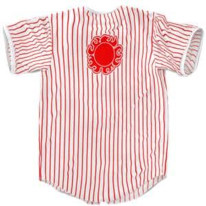 Jinbe Knight Of The Sea Helmsman Striped Baseball Shirt