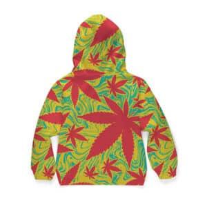 Keep Growing Cannabis Trippy Weed Art Dope Kids Hoodie