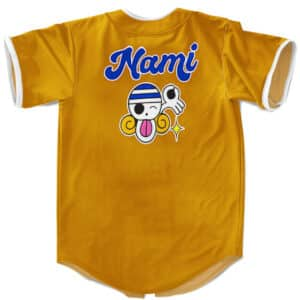 Nami Cat Burglar Logo Emblem Orange Baseball Uniform