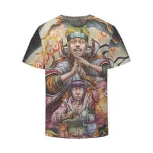 Naruto And Hinata Toad Sage Mode Artwork Kids Shirt