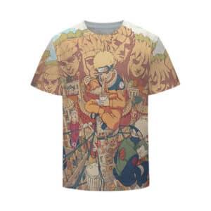 Naruto Team 7 Konoha Village Background Kids T-Shirt