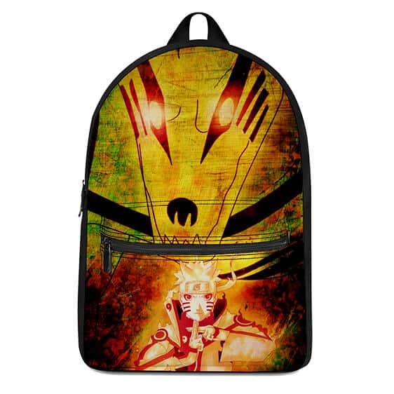 Naruto Uzumaki & Nine-Tailed Fox Kurama Art Badass Backpack