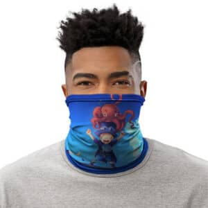 Playful Young Ace Sabo And Luffy Beach Front Neck Gaiter