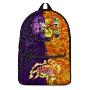 Powerful Naruto Jinchuuriki & Sasuke Sharingan Art Backpack