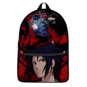 Rogue Ninja Uchiha Sasuke Artwork Badass Knapsack Bag