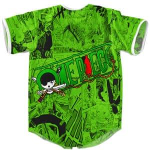 Roronoa Zoro Manga Art Design Green Baseball Jersey