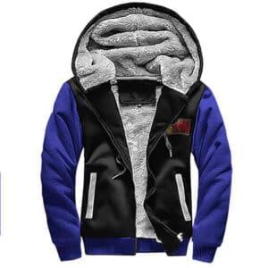 SSJ Vegeta Pain Inspirational Quote Fleece Hooded Jacket