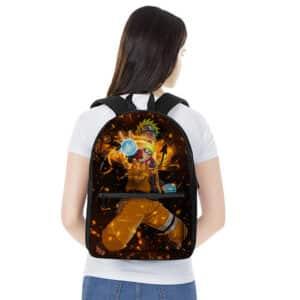 Sage Mode Naruto Uzumaki Rasengan Art Cool Backpack Bag
