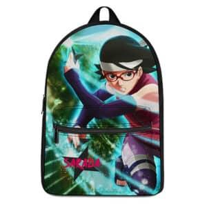 Sarada Uchiha Battle Pose Design Cool Naruto Knapsack Bag