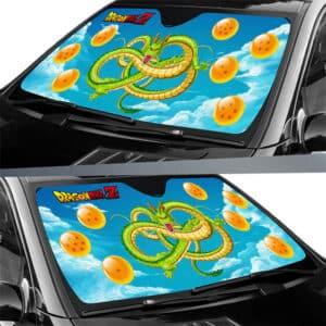 Shenron And The Seven Namekian Wish Orbs Car Sun Shade