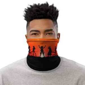 Straw Hat Mugiwara Pirates Red Sunset Silhouette Tube Mask