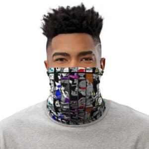 Straw Hat Pirates Image Collage Vibrant Pattern Tube Mask