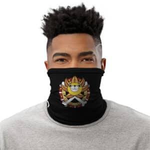 Straw Hat Pirates Thousand Sunny Ship Logo Black Tube Mask