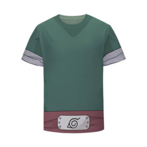 Team Guy's Bushy Brows Rock Lee Green Cosplay Kids Shirt