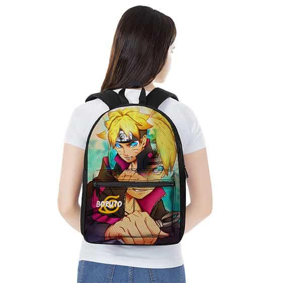 Teen Boruto Uzumaki Portrait Art Stylish Naruto Backpack