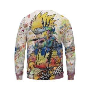 Unique Naruto Painting Graffiti Style Full Print 3D Sweatshirt