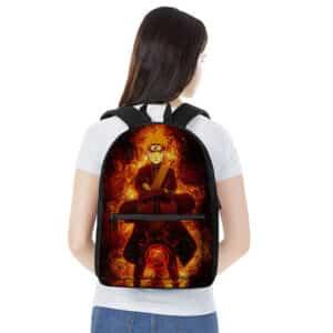 Uzumaki Naruto Kurama Mode Artwork Stylish Backpack Bag