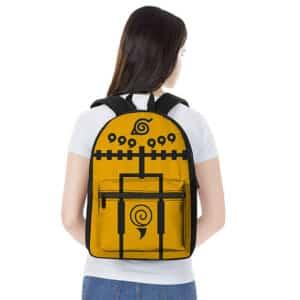 Uzumaki Naruto Nine-Tails Chakra Mode Cloak Inspired Backpack