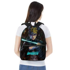 Vengeful Boruto Uzumaki Under The Rain Painting Backpack