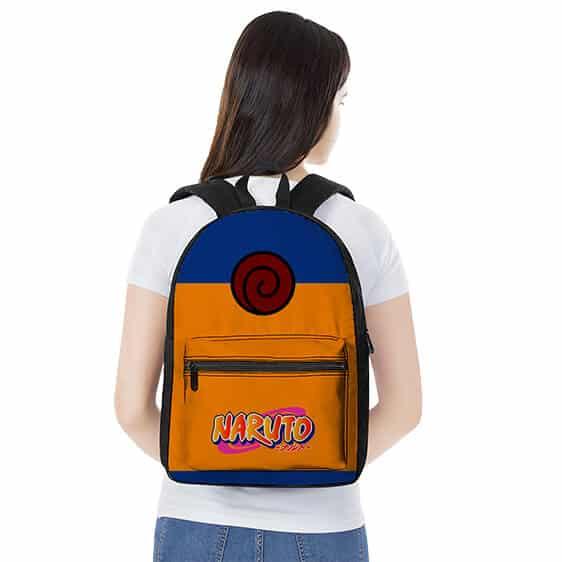 Young Genin Ninja Naruto Uzumaki Costume Design Backpack Bag